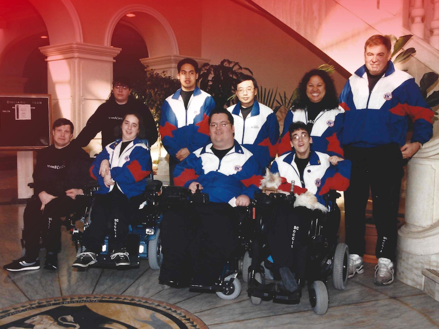 Historic photo of boccia athletes  